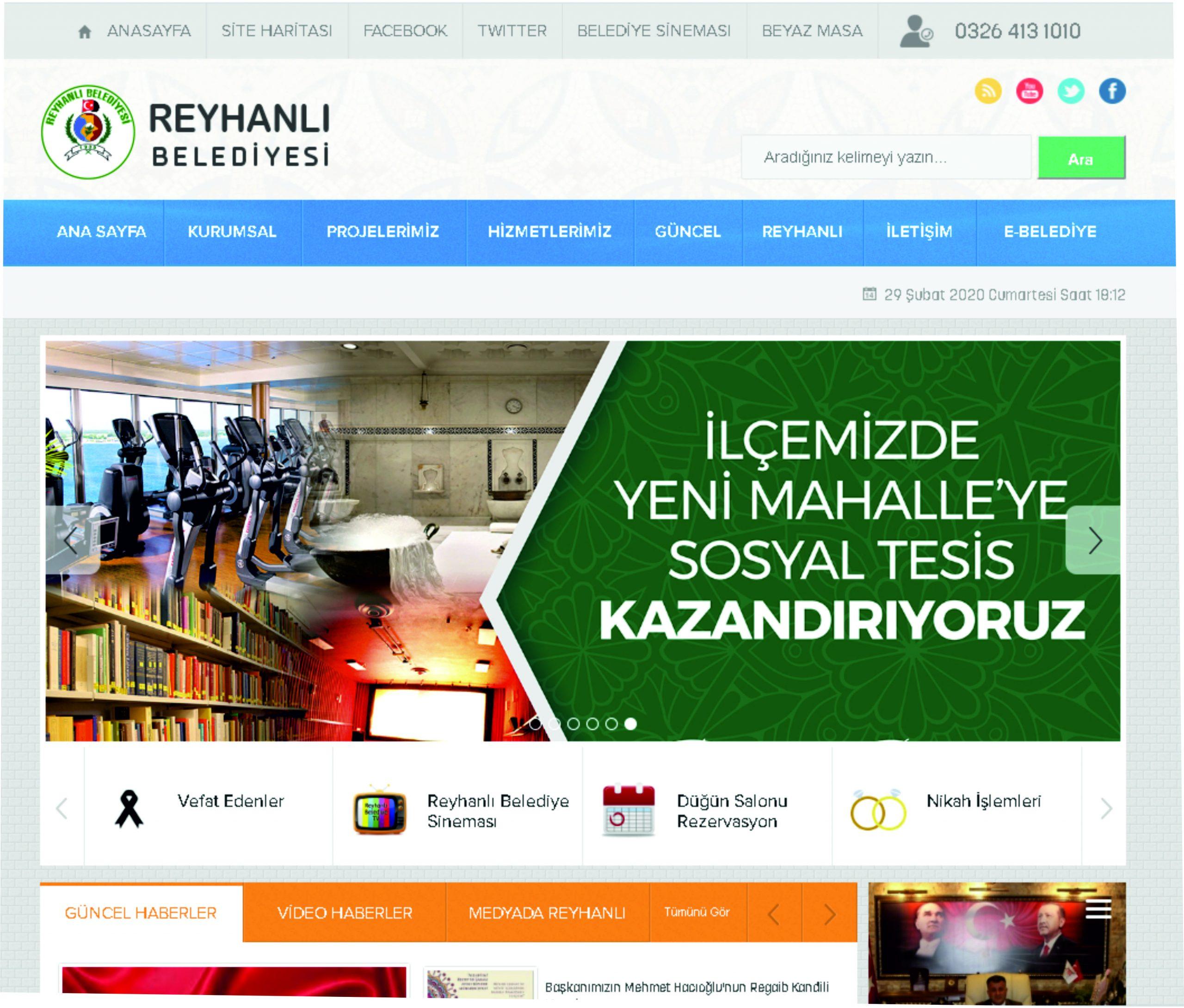 Reyhanlı Belediyesi Web Sitesi